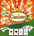 Poker Casino Cards the Background Gambling the Sym vector image vector image