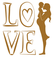 Pure Love print vector image vector image