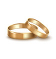 realistic detailed golden wedding rings vector image vector image