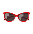 red sun glasses vector image
