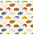 Seamless pattern of different heads vector image