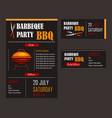 set a bbq menu template vector image