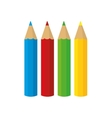 set colors school paint design vector image vector image