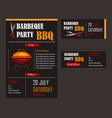 set of of a bbq menu template vector image vector image