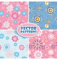 set seamless backgrounds pink and blue vector image vector image