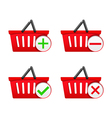 Shopping Basket with Icons vector image vector image