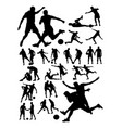 soccer player activity silhouette vector image vector image