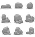 Stones set element art vector image vector image