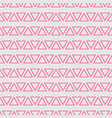 tile pattern with pink triangles on grey vector image vector image