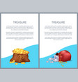 treasure posters with text vector image vector image