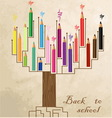 tree shaped made colored pencils vector image vector image