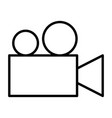 video camera thin line icon cinema pictogram vector image vector image