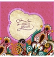 Vintage grunge pattern on floral background with