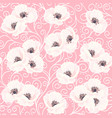 white anemones on the pink seamless pattern vector image vector image