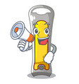 with megaphone nail cutter shape on a cartoon vector image vector image