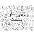 Women clothing coloring book vector image