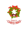 Wreath Cheerful Christmas card vector image vector image