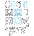 Cartoon Teeth symbol vector image