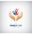 Family life insurance sign icon Hands vector image