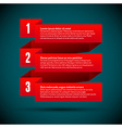 Infographic with numbered infographic ribbons vector image