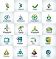 abstract business logo collection vector image