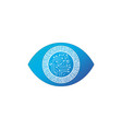 abstract futuristic digital technology eye with vector image vector image