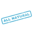 All Natural Rubber Stamp vector image vector image