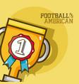 american football sport vector image vector image