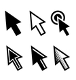 arrow cursors symbol icons set vector image vector image
