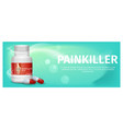 banner advertisement packaging painkiller pils vector image