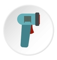 Barcode scanner icon flat style vector image vector image