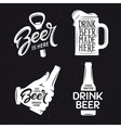 Beer related typography set vintage vector image vector image