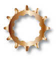 bicycle rear driven cog vector image