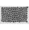 black and white doodle pattern ornament vector image vector image