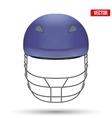 Blue Cricket Helmet Front View vector image vector image