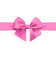 bow with ribbon isolated on white background vector image vector image
