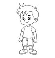 boy cartoon vector image vector image