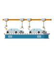 car assembly conveyor line robotic car machinery vector image