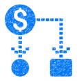 cashflow scheme grunge icon vector image vector image