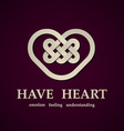 celtic heart symbol design template vector image vector image