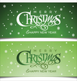 Christmas green greeting card vector image vector image