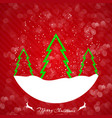 christmas lights glowing inscription stylish vector image vector image