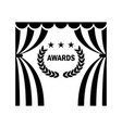 cinema theatre laurel award vector image vector image
