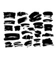 collection hand drawn brush strokes vector image