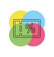 coupon icon vector image