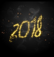 creative 2018 glitter text for happy new year vector image vector image