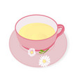 cup of chamomile tea vector image