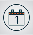 day 1 icon colored line symbol premium quality vector image