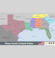 deep south united states vector image