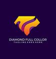 diamond colorful template design vector image vector image